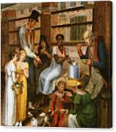 Pepper-pot. A Scene In The Philadelphia Market Canvas Print