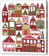 Peppermint Village Canvas Print