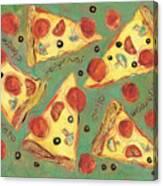 Pepperoni Pizza Canvas Print