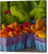 Peppers At The Produce Market Canvas Print