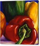 Peppers On Peppers Canvas Print