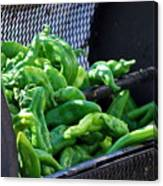 Peppers Roasting. Canvas Print