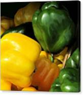 Peppers Yellow And Green Canvas Print