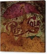 Pepsi Cola Vintage Sign 5a Canvas Print