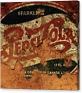 Pepsi Cola Vintage Sign 5b Canvas Print