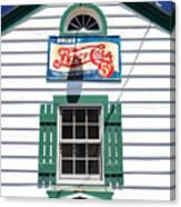 Pepsi Window At Ambler's Texaco Gas Station Canvas Print