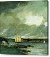 Pequot Light House Connecticut Coast 1902 Canvas Print