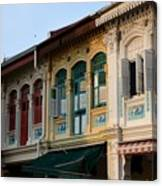 Peranakan Architecture Design Houses And Windows Joo Chiat Singapore Canvas Print