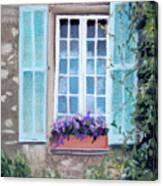 Perched Purples Canvas Print