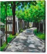 Pere Lachaise Cemetery Canvas Print