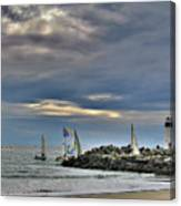Perfect Beach And Smooth Sailing Canvas Print