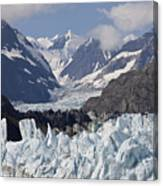 Perfect Day At Margerie Glacier Canvas Print