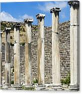 Pergamon Asklepion Colonnade Canvas Print