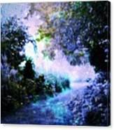 Fantasy Garden Path Periwinkle Canvas Print