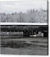 Perrine's Bridge After The Nor'easter Canvas Print