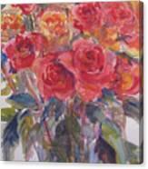 Per's Roses Canvas Print