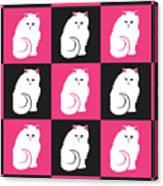 Persian Cat Pattern Canvas Print