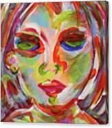 Persistence - Contemporary Art Face Canvas Print