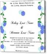 Personalized Wedding Invitations Canvas Print
