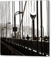Perspective On The Golden Gate Bridge Canvas Print