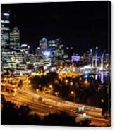 Perth By Night Canvas Print