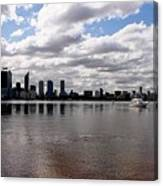 Perth City From South Perth Foreshore  Canvas Print