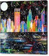Perth Skyline Alla Pollock  Canvas Print