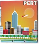 Perth Western Australia Australia Horizontal Skyline Canvas Print