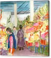 Peruvian Flower Market Canvas Print