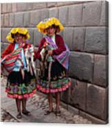 Peruvian Native Costumes  Canvas Print