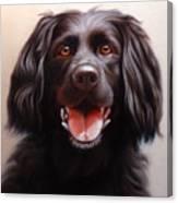 Pet Portrait Of A Black Labrador Canvas Print