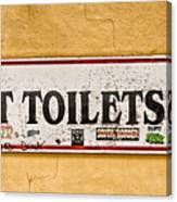 Pet Toilets Canvas Print