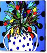Petals And Dots Canvas Print