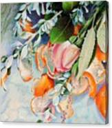 Petals And Peels Canvas Print
