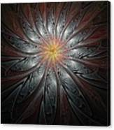 Petals In Pewter Canvas Print