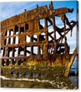 Peter Iredale Shipwreck - Oregon Coast Canvas Print