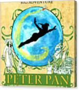 Peter Pan Tribute Canvas Print