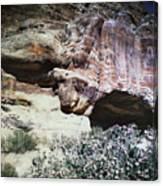 Petra, Transjordan: Cave Canvas Print