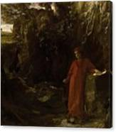 Petrarch By The Fountain Of Vaucluse Canvas Print