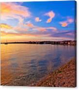 Petrcane Beach Golden Sunset View Canvas Print