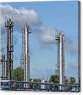 Petrochemical Plant Refinery Industry Zone Canvas Print