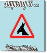 Petting Bigstock Donkey 171252860 Canvas Print