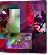 Petunia Collage Canvas Print