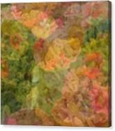 Petunias And Lantana Collage Canvas Print