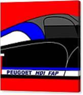Peugeot 908 Hdi Sat - No. 7 Canvas Print