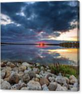 Pewaukee Lake Trail Canvas Print