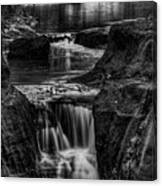 Pewits Nest Waterfalls In Black And White Canvas Print