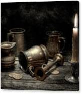 Pewter Still Life I Canvas Print