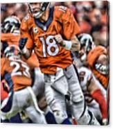 Peyton Manning Art 2 Canvas Print