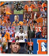 Peyton Manning Color Canvas Print